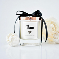 Mothers Day scented candle - Natural soy wax - Pink Champagne & Pomelo