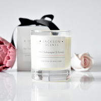 Pink champagne & pomelo scented candle - Gift boxed