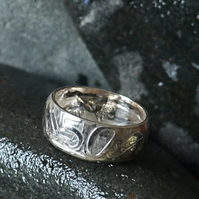 Silver 1966 Australian 50cent Coin Ring a unique and unusual 50th Birthday Gift