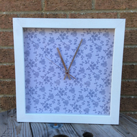 French shabby chic handmade clock