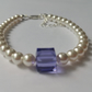 Genuine SWAROVSKI crystal white pearl bracelet 925 sterling silver wedding