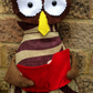Upcycled Fabric Owl Doorstop