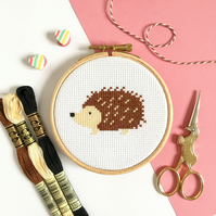 Hedgehog Cross Stitch Kit