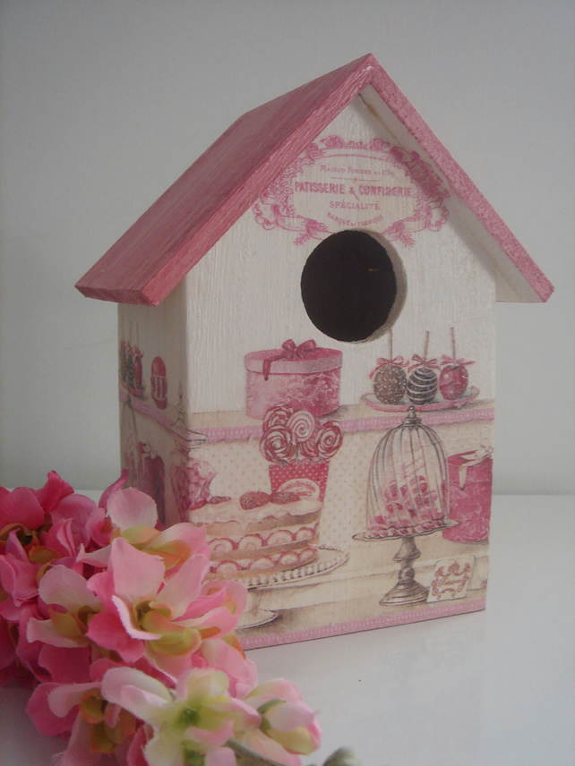 """Pink Sweets"" birdhouse"