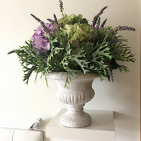Agate & Lilac Hydrangeas Large Artificial Flower Arrangement