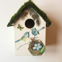 """Blue Birds"" birdhouse"