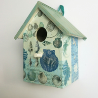 """Blue Shells"" birdhouse"