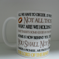 Quotes from the lord of the rings 11oz novelty coffee mug