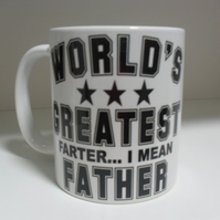 World's greatest farter i mean father funny father's day 11oz novelty coffee mug