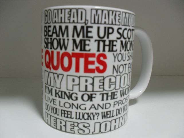 Movie quotes 11oz novelty coffee mug