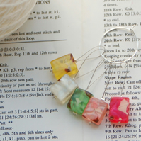 Beaded stitch marker, pack of 5