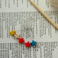 Knitting stitch markers, pack of 5 beaded stitch markers
