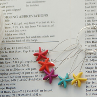Knitting stitch markers, beaded stitch markers