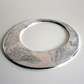 Large Faded Memories Statement Etch Sterling Silver Bangle - Handmade