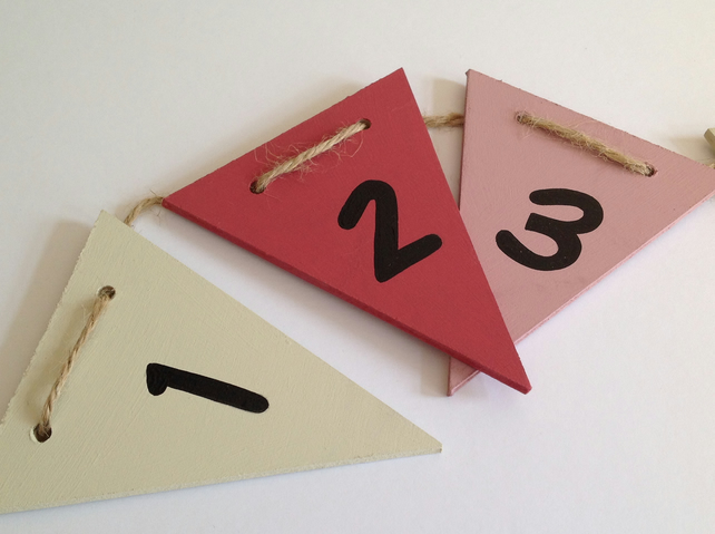 Girls Wooden Number Bunting