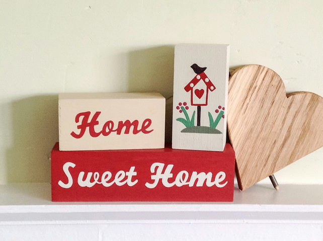 Home Sweet Home Shelf Decor Blocks