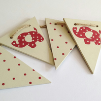Wooden Pink Elephant Bunting