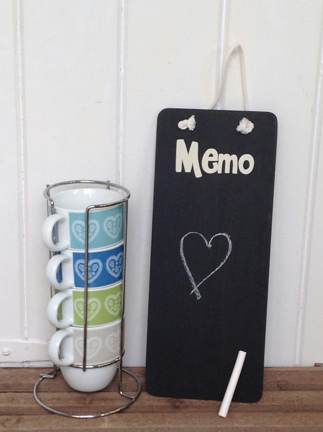 Memo - Chalkboard - wooden Sign
