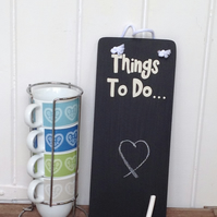 Things To Do - Chalkboard - Wooden Sign