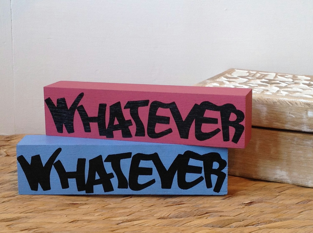 Whatever - Shelf Decor Block