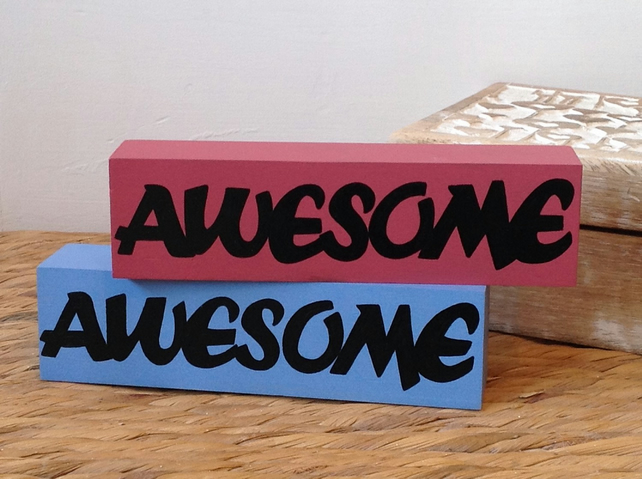 Awesome - Shelf Decor Block
