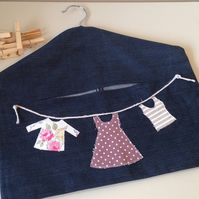 Dark Blue Recycled Denim Peg Bag