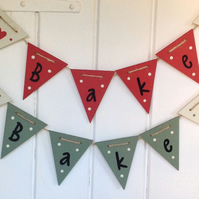 Bake Wooden Bunting