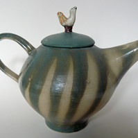 Green bird Teapot