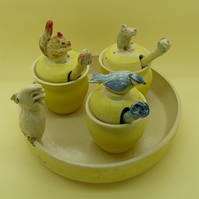 Parrot Condiment Set