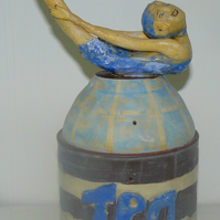 Diving girl Tea Caddy