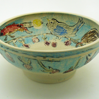 Bird, Animals & Brambles Bowl