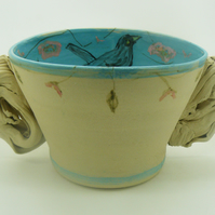 Bird Blue Bowl