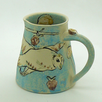 Owl & Mouse Jug or Vase