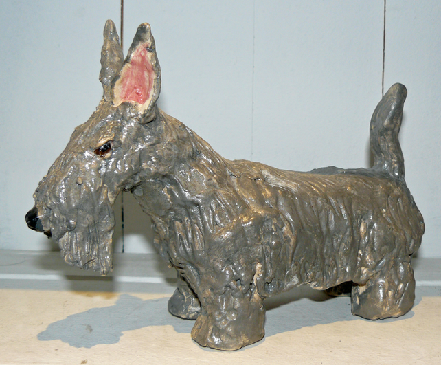 Clay Scottie dog