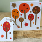 Autumn Trees Card & Gift Tag, Thanksgiving, Fall, Blank Card