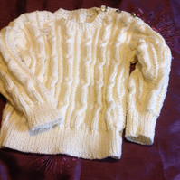 Beautiful hand knitted sweater.