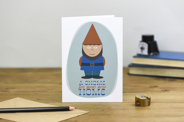 A Gnome for your New Home Card moving house