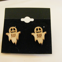 Cute Ghost earrings that have a message. Perfect for Halloween
