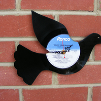 Dove vinyl wall clock
