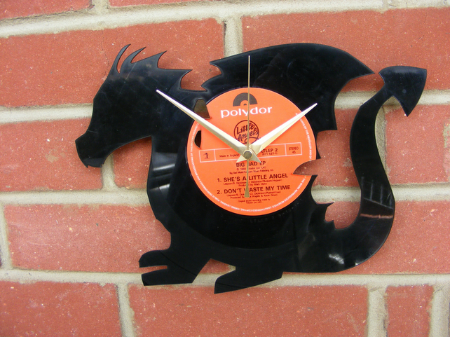 Dragon vinyl LP wall clock