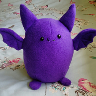 "Made To Order - Fat Bat Toy, Cuddly Bat, Bat Plush, 12"" Plush"