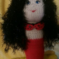 Red and Black Gothic mermaid doll