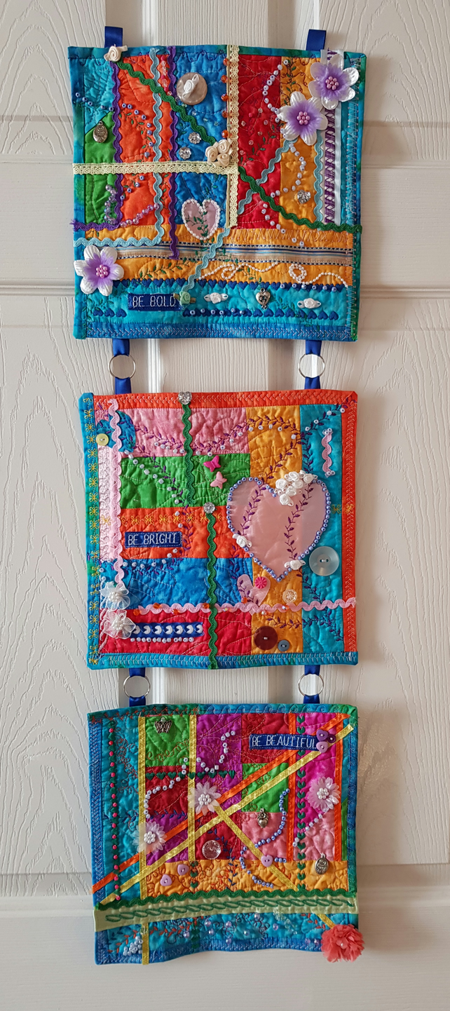 Crazy quilting Wallhanging
