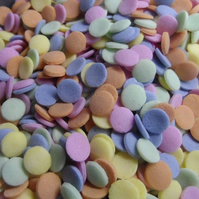 50g LARGE EDIBLE CUPCAKE CAKE POP PASTEL CONFETTI SEQUINS SPRINKLES
