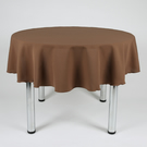 "Round Plain Fabric Tablecloth 58"" (147cm) Diameter Brown,Sage Green,Lemon"