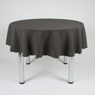 "Round Plain Fabric Tablecloth 58"" (147cm) Diameter Dark Grey, Mustard, Magenta"