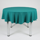 "Round Plain Fabric Tablecloth 58"" (147cm) Diameter Jade, Vanilla, Lime, Mint"