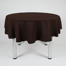 "Round Plain Fabric Tablecloth 58"" (147cm) Diameter Dark Brown,Orange,Peach,"