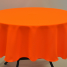 "Round Plain Fabric Tablecloth 58"" (147cm) Diameter Neon Orange, Neon Yellow"
