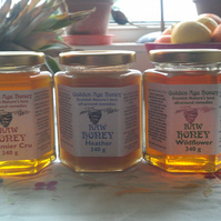 Raw Organic Wildflower honey made with bees welfare (lime tree, bramble, clover)